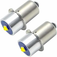 Ruiandsion 2pcs 3V P13.5S LED Upgrade Bulb 3W