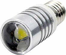Ruiandsion 2pcs 6-18V E10 LED Upgrade Bulb CREE 5W
