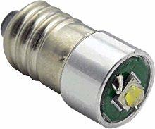 Ruiandsion 2pcs E10 LED Bulb DC 5-24V 3W 6000K