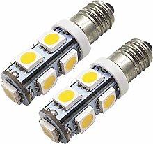 Ruiandsion 2pcs E10 LED Bulb Warm White 5050 9SMD