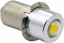 Ruiandsion LED Flashlight Bulb P13.5S 6V 1W 200LM