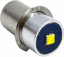 Ruiandsion P13.5S Torch Light Bulb 5-24V 3W 6000K