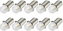 Ruiandsion Upgrade LED Flashlight Bulbs P13.5S