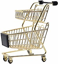 RUICK Mini Double Layer Shopping Cart Storage