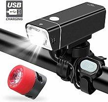 RUIMA Bike Lights, USB Rechargeable Bike Light