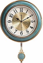 RUIMA Ceramic Pendulum Clock/Retro Creative Wall