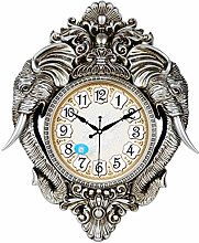 RUIMA Vintage Wall Clock Non Ticking Silent