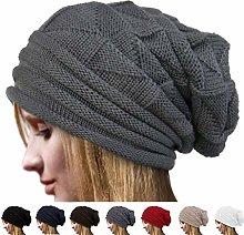 ruiruiNIE Unisex Men's Women's Knit Baggy