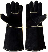 Ruiting Leather Oven Gloves Black Long Sleeve