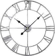 RuiyiF 24 Inch Metal Wall Clock Large Decorative
