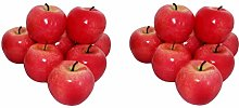 rukauf 16 x Decorative Apple Red Artificial Fruit