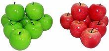 rukauf 16x Decorative Apple Red and Green