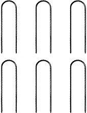 Ruluti 6 Pack U Shape Ground Anchors Trampoline