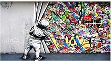 Rumlly Street Art Banksy Graffiti Wall Art Boy