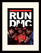 Run DMC Group Framed Graphic Art Print Happy Larry