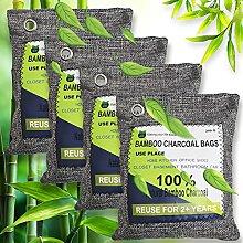 RUN HELIX Bamboo Charcoal Air Purifying Bag, 4