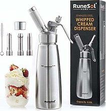 Runesol Premium Stainless Steel Whipped Cream