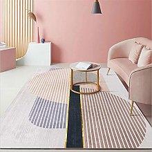 Runner Rug For Hallway Soft Stripe Geometry