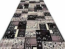 Runner Rug Grey/Black Vintage Carpet, Washable Non