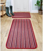 Runner Rug L240 X 67cm Red by Coopers of Stortford
