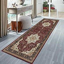 Runner Rug, Low Pile Traditional Vintage Carpet