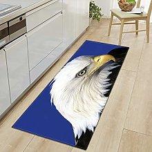 Runner Rug,Non-Slip Area Carpet Modern White Eagle