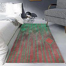 Runner Rug,Non-Slip Area Carpet Nordic Geometric