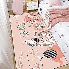 Runner Rug,Non Slip Area Rugs Pink Cartoon Day