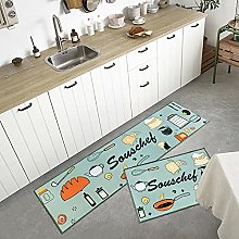 Runner Rugs,2 Pieces L Shape Stain Resistant
