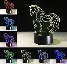 Running Horse Acrylic Stereo Vision Horse Interior