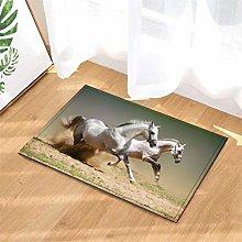 Running Horse. Door Mat Front Door Carpet Non-Slip
