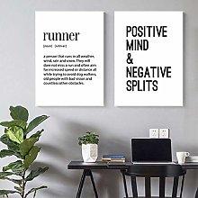 Running Quote Print Gift For Runner Motivational
