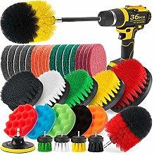 Runtodo 36Pcs Drill Brush Attachment Set Drill