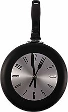 Runtodo Wall Clock Metal Frying Pan Design 8 Inch