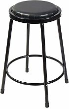 RUNWEI Bar Stool, Four-legged Thick Leather Bar