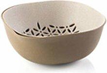 RUNWEI Home Plastic Double-layer Drain Basket,