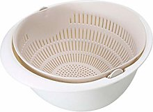 RUNWEI Kitchen Drain Basket, Detachable Double