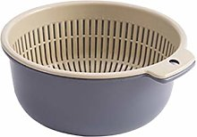 RUNWEI Kitchen Drain Basket, Home Double Basket