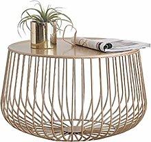RUNWEI Nordic Wrought Iron Small Coffee Table