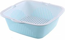 RUNWEI Plastic Washing Basket, Kitchen Household