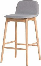 RUNWEI Simple Solid Wood Back Bar Chair, 95cm High