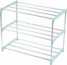 RUNYA Shoe Racks Heavy Duty Metal Shoe Racks