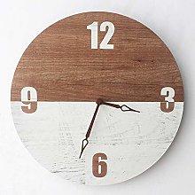 Ruosaren Wooden Clocks Bedroom Silent Non-Ticking