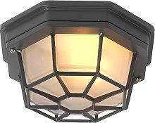 Rural ceiling lamp dark gray IP44 - Bri S