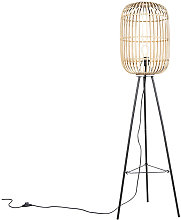 Rural floor lamp rattan - Manila