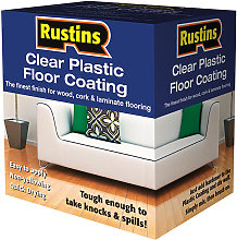 RUSPCFS4L Clear Plastic Floor Coating Kit Satin 4