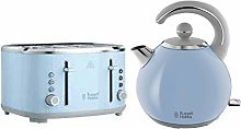 Russell Hobbs Bubble Blue Kettle & 4 Slice Toaster