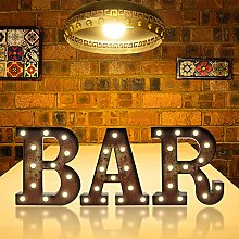 Rust LED BAR Marquee Letters with Lights, Light Up