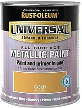 Rust-Oleum Metallic Gold Universal Metal And All Surface Paint - 250Ml