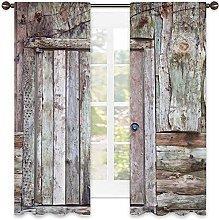 Rustic 99% blackout curtain, Old Rustic Barn Door